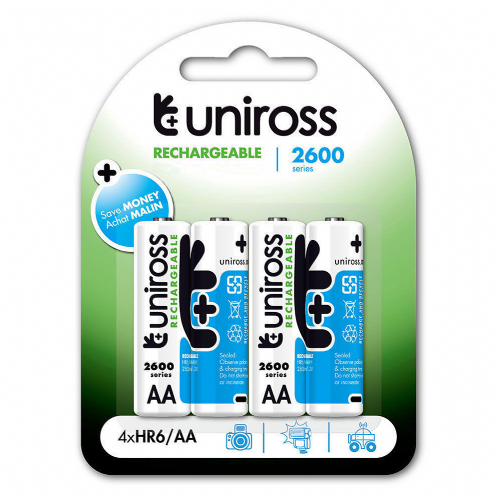 Uniross Rechargeable Ni-MH Batteries